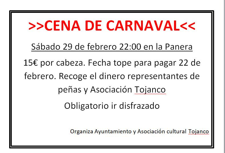 Cena Carnaval Villaviudas 2020